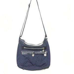 Brighton nylon crossbody blue  purse